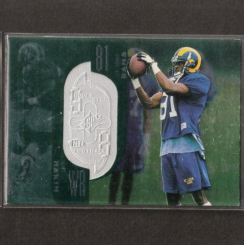 AZ HAKIM - 1998 SPx  ROOKIE Serial Number 2590/10100 - Dolphins, Rams & Aztecs
