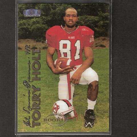 TORRY HOLT - 1999 Fleer Tradition ROOKIE - Jaguars, Patriots & NC State Wolfpack