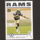 STEVEN JACKSON - 2006 Topps - St. Louis Rams & Oregon State Beavers