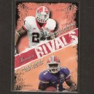 KNOWSHON MORENO & PERCY HARVIN - 2009 Bowman Draft Rookie Rivals - Gators & Bulldogs