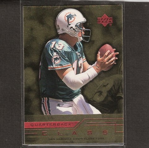 DAN MARINO - 1999 Upper Deck Quarterback Class - Miami Dolphins & Pittsburgh Panthers