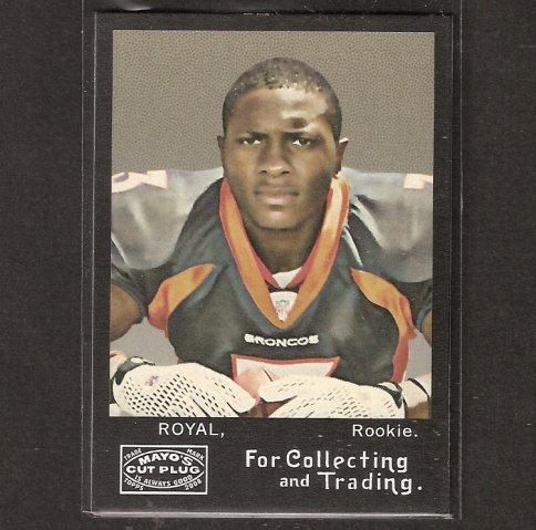 EDDIE ROYAL - 2008 Topps MAYO Rookie - Denver Broncos & Virginia Tech