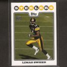 LIMAS SWEED - 2008 Topps Rookie - Steelers & Cal Golden Bears