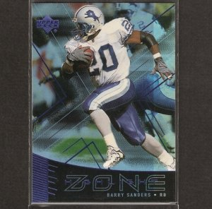 BARRY SANDERS - 1999 Upper Deck Highlight Zone - Detroit Lions & Oklahoma State Cowboys