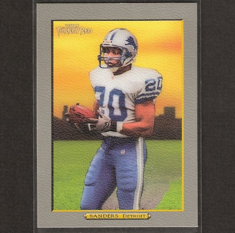 BARRY SANDERS - 2005 Turkey Red Short Print - Detroit Lions & Oklahoma State