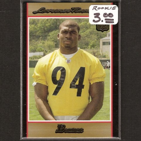 LAWRENCE TIMMONS - 2007 Bowman Gold Rookie - Steelers & Florida State