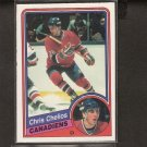 CHRIS CHELIOS - 1984-85 O-Pee-Chee ROOKIE CARD - Detroit Red Wings