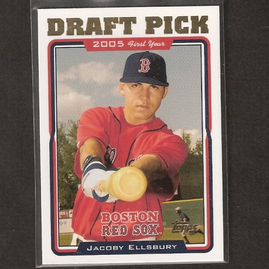 JACOBY ELLSBURY - 2005 Topps Update ROOKIE - Red Sox