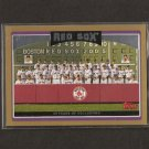 RED SOX TEAM CARD 2006 Topps Gold  #308/2006