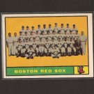 RED SOX TEAM CARD 1961 Topps
