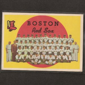RED SOX TEAM CARD 1959 Topps