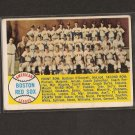 RED SOX TEAM CARD 1958 Topps