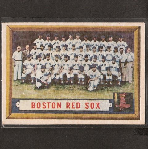 RED SOX TEAM CARD 1957 Topps