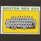 RED SOX TEAM CARD 1964 Topps - High  Number
