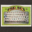 RED SOX TEAM CARD 1972 Topps Checklist