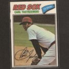 CARL YASTRZEMSKI - 1977 Topps Cloth Sticker - Red Sox