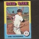 CARL YASTRZEMSKI - 1975 Topps - Red Sox - Near Mint PLUS