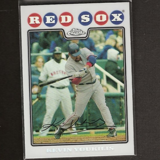 KEVIN YOUKILIS 2008 Topps Chrome REFRACTOR - Red Sox
