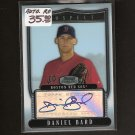 DANIEL BARD - 2007 Bowman Sterling Autograph ROOKIE - Red Sox