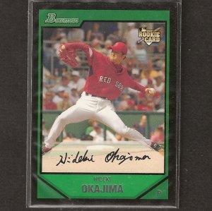 HIDEKI OKAJIMA 2007 Bowman Rookie - Red Sox