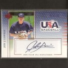 JED LOWRIE- 2005 Upper Deck USA Autograph ROOKIE - red Sox