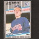 JOHN SMOLTZ - 1989 Fleer ROOKIE - Cardinals, Braves