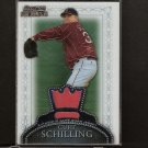 CURT SCHILLING 2005 Bowman Sterling - GAME-USED JERSEY - Red Sox