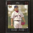 DAISUKE MATSUZAKA - 2007 Topps JAPANESE ROOKIE CARD - Red Sox