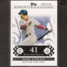 MIKE LOWELL 2008 Topps Moments & Milestones - Red Sox