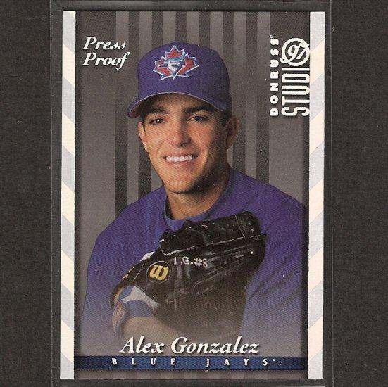 ALEX GONZALEZ - 1997 Donruss Studio Press Proof - Toronto Blue Jays