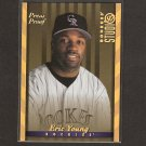 ERIC YOUNG - 1997 Donruss Studio Press Proof GOLD - Rockies