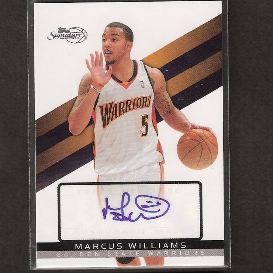MARCUS WILLIAMS 2008-09 Topps Signature Autograph - UConn Huskies
