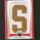 KORY SHEETS 2009 Bowman Draft Letter Patch Autograph - 49ers & Purdue