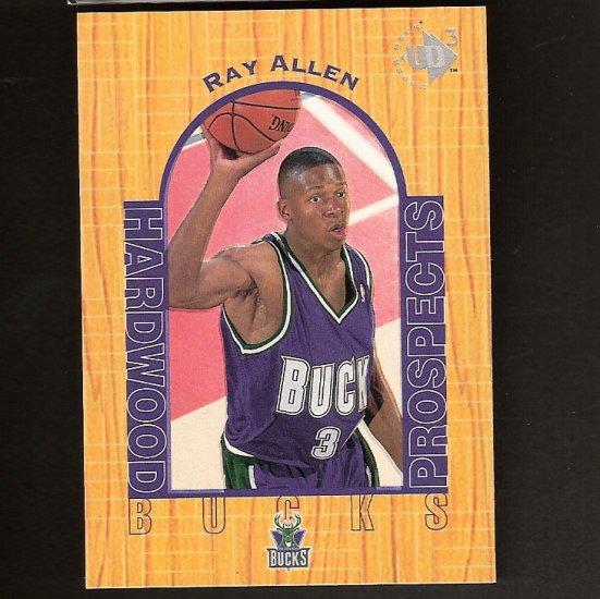 RAY ALLEN 1996-97 UD3 Rookie - Boston Celtics & UConn Huskies