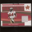 JOEY GALLOWAY - 2006 Leaf Rookies & Stars - GAME-USED Jersey - Buccaneers & Ohio State Buckeyes