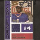 MIKE WILLIAMS 2002 Bowman Draft JERSEY Relic RC - NY Giants