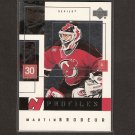 MARTIN BRODEUR 2001 Upper Deck Profiles - New Jersey Devils
