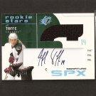 JEFF TAFFE - 2002-03 SPx Autographed JERSEY ROOKIE - Florida Panthers