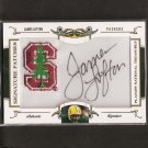 JAMES LOFTON #21/26 - 2008 National Treasures Autographed College Patch Stanford & Packers