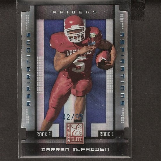 DARREN McFADDEN - 2008 Donruss Elite TOC Rookie - Razorbacks & Oakland Raiders