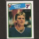 BRETT HULL - 1988-89 O-Pee-Chee ROOKIE - St. Louis Blues