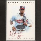 MANNY RAMIREZ - 1996 Leaf Signature Series Silver Autograph - Oakland Athletics