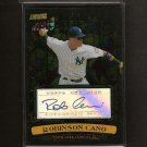 ROBINSON CANO - 2008 Stadium Club  Beam Team Autograph - NY Yankees