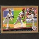 LINCECUM, HAREN, SANTANA 2009 Topps Gold K-Leaders - Giants, Diamondbacks, Mets