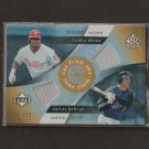 BOBBY ABREU & CARLOS BELTRAN - 2005 UD Reflections GAME-USED DUAL JERSEY - Mets & Angels