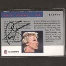 PHIL SIMMS - 1991 Proline Portraits Autograph - NY Giants & Morehead State