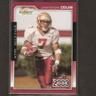 LAVERANUES COLES 2000 Score Rookie - Seminoles & New York Jets