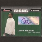 CEDRIC HOUSTON 2005 Bowman Autograph RC - Tennessee Volunteers & NY Jets