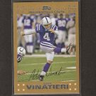 ADAM VINATIERI 2007 Topps GOLD - Colts - Serial Number 1/52