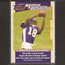 SIDNEY RICE 2007 Topps Rookie Fantasy Challenge - Vikings & Gamecocks